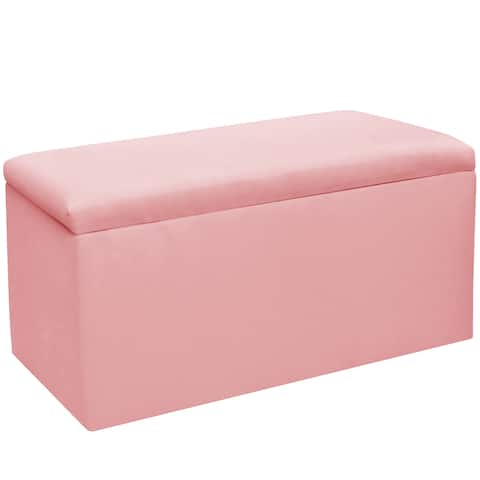 Skyline Furniture Kids Storage Bench in Duck Light Pink - N/A