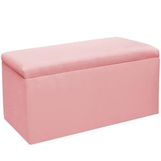Skyline Furniture Kids Storage Bench in Duck Light Pink - N/A