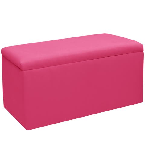 Skyline Furniture Kids Storage Bench in Duck French Pink - N/A