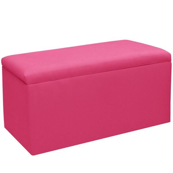 Skyline Furniture Kids Storage Bench in Duck French Pink - N/A