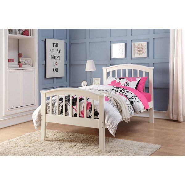 Kids Twin Bed Frames donco kids columbia white twin bed frame - free shipping today
