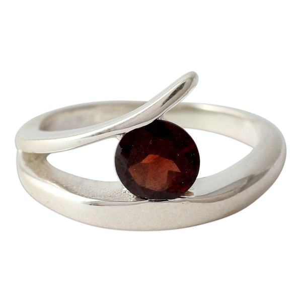2ce3a53024f517 Shop Handmade Dazzling Love Garnet Sterling Silver Ring (India) - On ...
