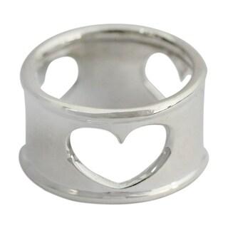 Handmade Sterling Silver 'Threefold Love' Ring (India)