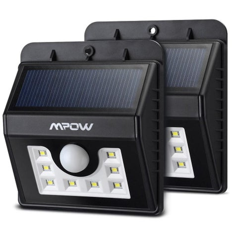 Mpow Solar-powered LED Light Outdoor Motion Sensor Security Light (Pack of 2) - Black