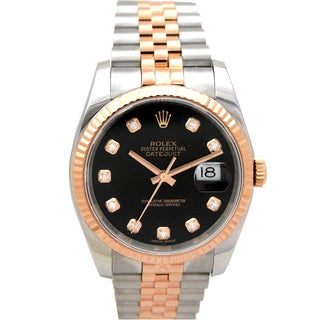 Pre-owned Rolex Unisex Rose Gold Two-Tone Datejust