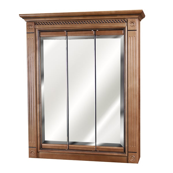 marquis cinnamon maple mirrored medicine cabinet 24 x 30 free shipping today overstock. Black Bedroom Furniture Sets. Home Design Ideas