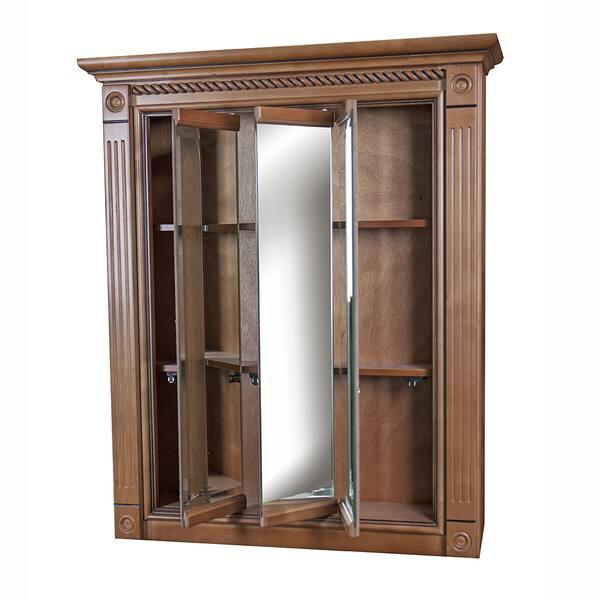 Marquis Cinnamon Maple Mirrored Medicine Cabinet 24 X 30