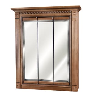 "Marquis Cinnamon Maple Mirrored Medicine Cabinet (24"" x 30"")"