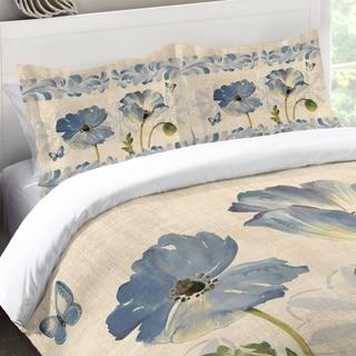 Laural Home Blue Poppies Standard Pillow Sham