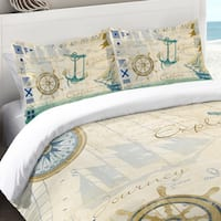 Laural Home Nautical Journey 200 TC Cotton Standard Pillow Sham