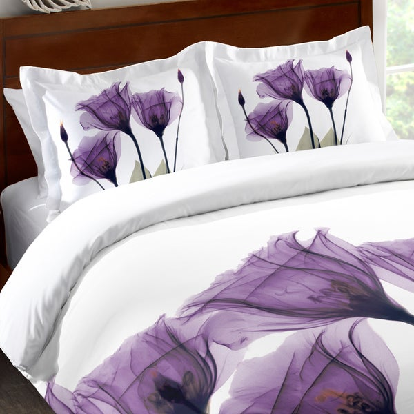 Laural Home Lavender Floral X-Ray Standard Pillow Sham