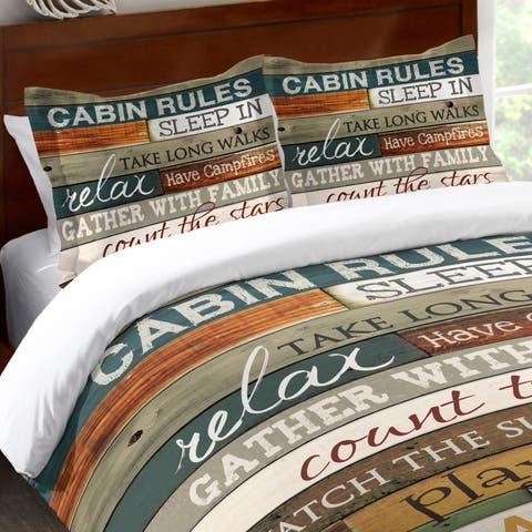 Laural Home Rules of the Cabin Standard Pillow Sham
