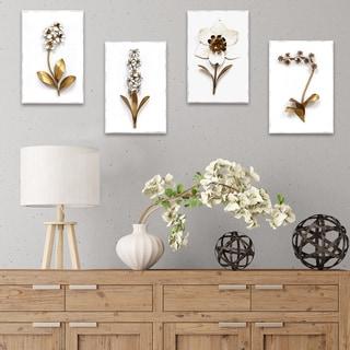 Stratton Home Decor Elegant Floral Wall Art