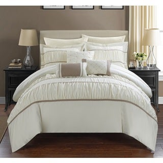 Chic Home Wanda Beige 10-Piece Bed In a Bag with Sheet Set