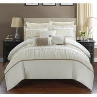 Silver Orchid Monroe Beige 10-piece Bed In a Bag with Sheet Set