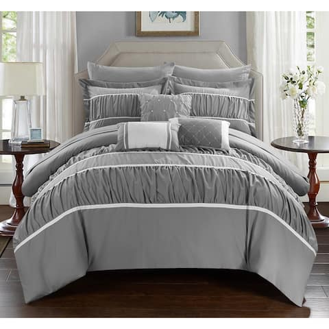 Silver Orchid Purviance Grey 10-piece Bed-in-a-Bag with Sheet Set