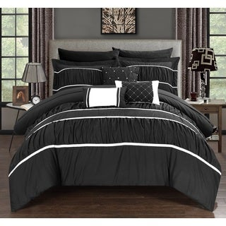 Chic Home Wanda Black 10-Piece Bed In a Bag with Sheet Set