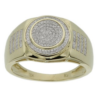 Men's 10k Yellow Gold 1/4ct TDW Diamond Ring (5 options available)