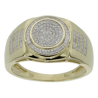 Men's 10k Yellow Gold 1/4ct TDW Diamond Ring (GH- I2-I3)