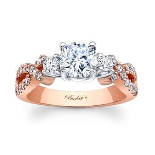 Barkev's Designer 14k Two-tone Gold 1 2/5ct TDW Diamond Engagement Ring (F-G, SI1-SI2)