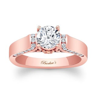 Barkev's Designer 14k Rose Gold 1 1/3ct TDW Diamond Engagement Ring (F-G, SI1-SI2)