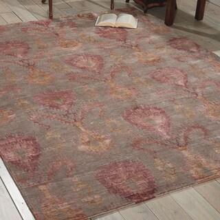 Nourison Silk Shadows Taupe Rug (5'6 x 7'5)
