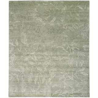 Nourison Silk Shadows Light Green Rug (5'6 x 7'5)