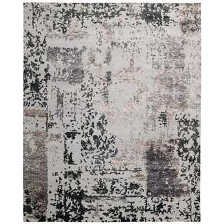 Nourison Silk Shadows Silver Grey Rug (5'6 x 7'5)