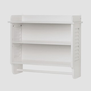 Olympia Wall Mounted Wooden Shelving - White
