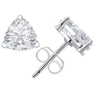 Orchid Jewelry's 2.66ct Genuine White Topaz 925 Sterling Silver Stud Earring