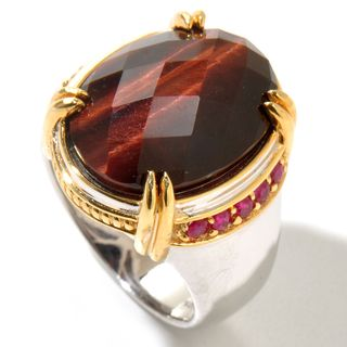 Michael Valitutti Men's Tigers Eye Quartz Ring