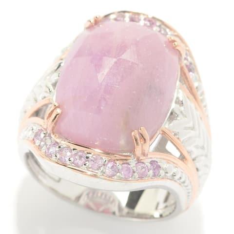 Michael Valitutti Opaque Rose Cut Pink Sapphire Ring