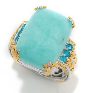 Michael Valitutti Amazonite and Neon Apatite Ring