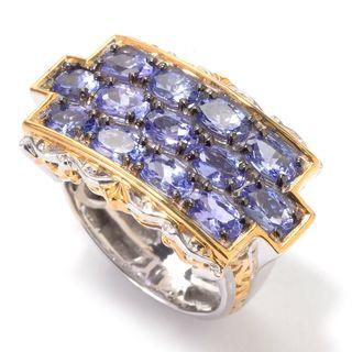 Michael Valitutti Three Row Tanzanite Ring