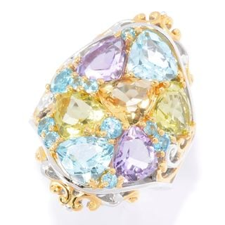 Michael Valitutti Light Colored Multi Gem Ring