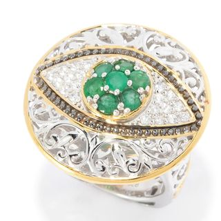 Michael Valitutti Emerald Eye Ring