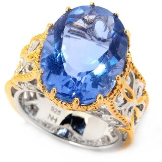 Michael Valitutti Blue Flourite Ring
