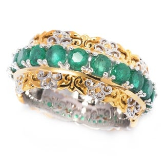 Michael Valitutti Emerald Eternity Ring