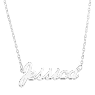 Sterling Silver 'Jessica' Name Pendant on 16-inch Trace Chain