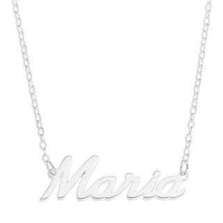 Sterling Silver 'Maria' Name Pendant on 16-inch Trace Chain