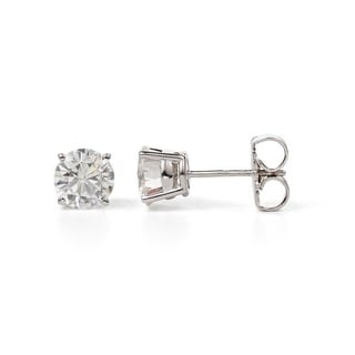 Charles and Colvard Sterling Silver 1 5/8ct TGW Forever Classic Moissanite Stud Earrings