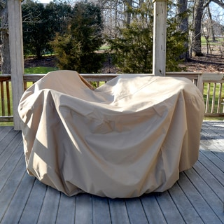 All-Weather Protective Cover for 54-in Round Table and Chairs with Umbrella Hole