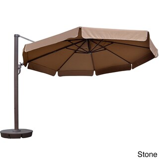 Victoria 13-ft Octagon Cantilever Umbrella with Valance in Sunbrella Acrylic (3 options available)