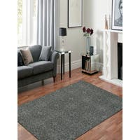 Hand-Tufted Saint Thomas Dove Gray Blended New Zealand Wool and Art Silk Rug - 2' x 3'