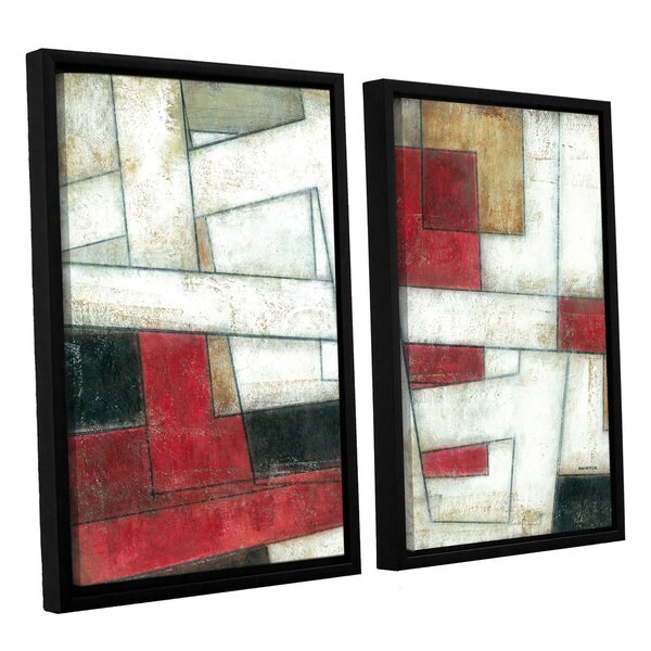 ArtWall Norman Wyatt JR's 'Alignment' 2-piece Floater Framed Canvas Set