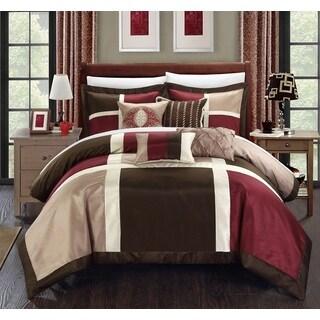 Chic Home Filomena Burgundy 7-Piece Comforter Set - Thumbnail 0