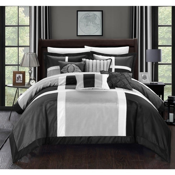 Chic Home Filomena Grey 7-Piece Comforter Set