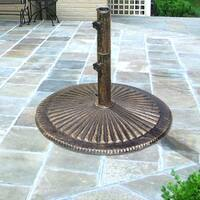 Classic Cast Iron Umbrella Base in Bronze