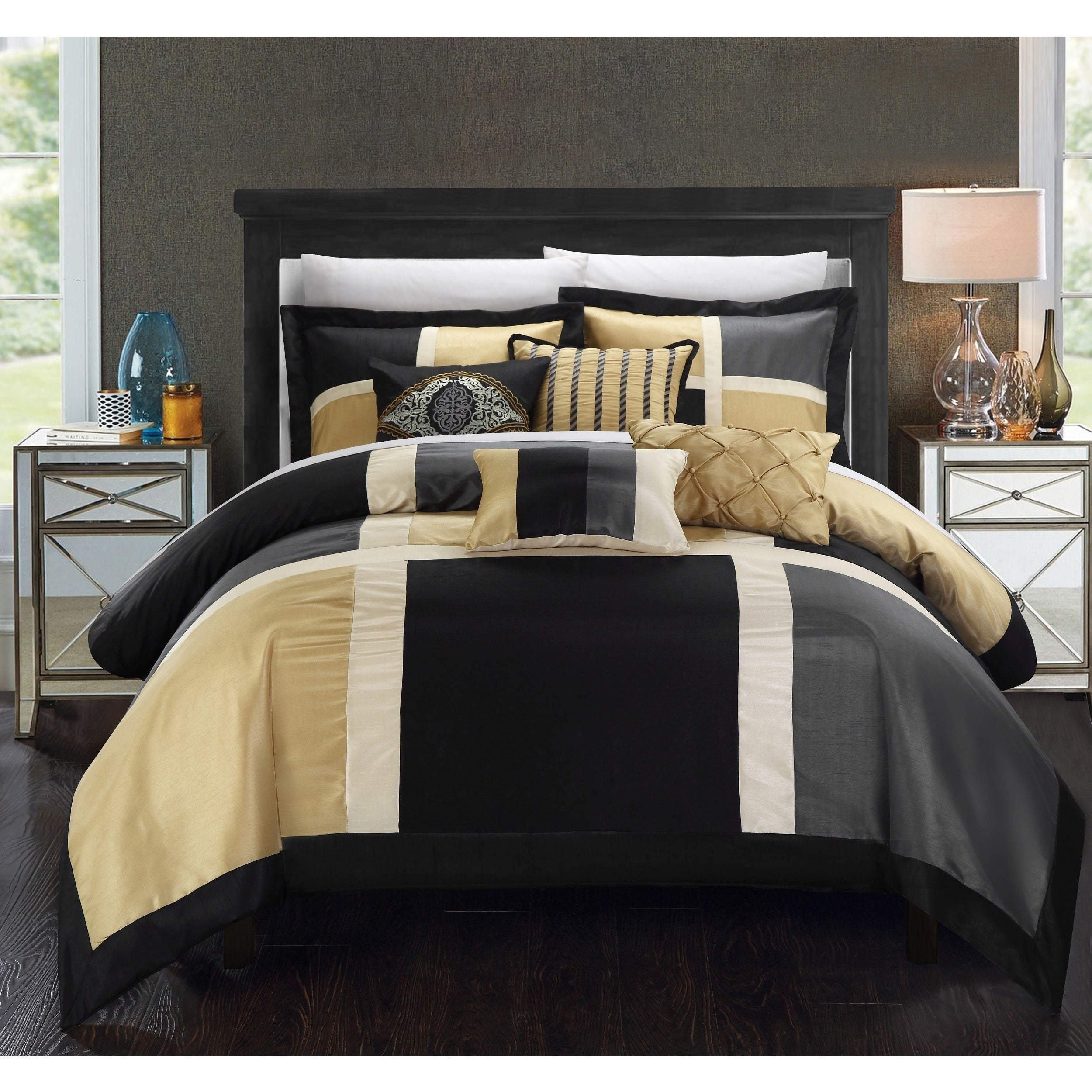 reversible sheet madison overstock bedding and park trellis comforter complete pattern com grey essentials product almaden cotton set bed bath