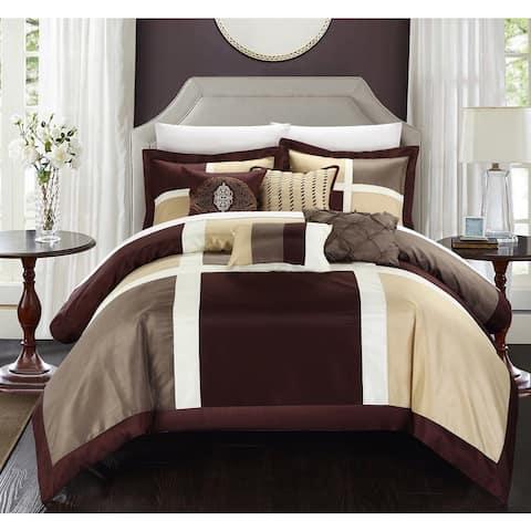 Copper Grove Minesing Brown 7-piece Comforter Set